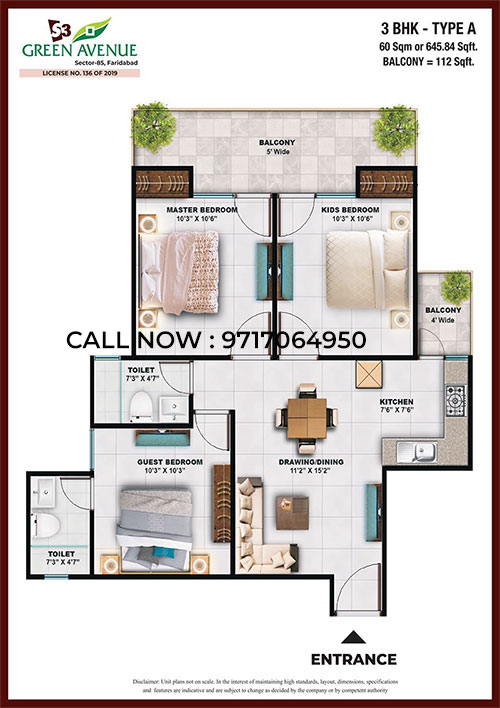 3BHK Type A