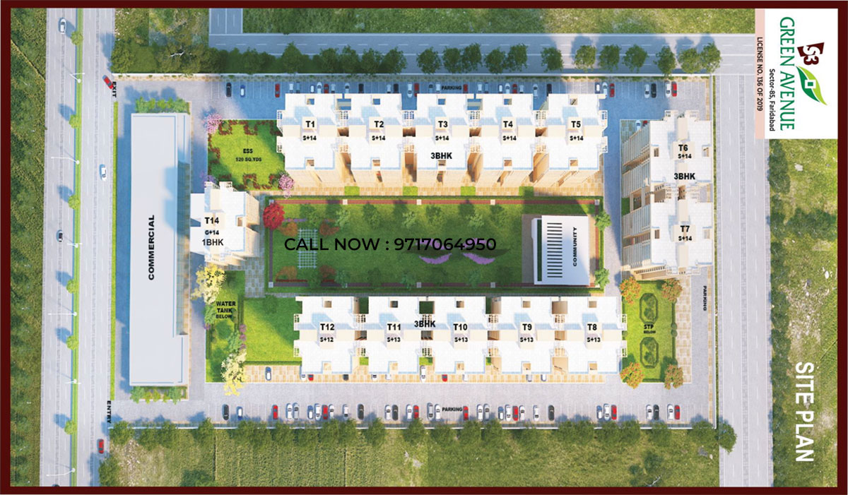 Green Avenue Residences Faridabad Site Plan